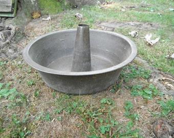 Large Primitive Metal Tube Cake Pan