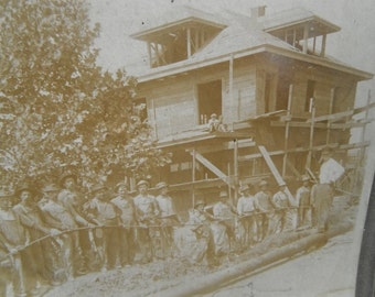 Large Antique Industrial Occupational Mounted Photo