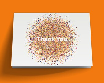 Printable Thank You Card, Confetti Thank You Card, DIY Instant Download, Wedding Thank You Card, Birthday Thank You Card, Color Explosion