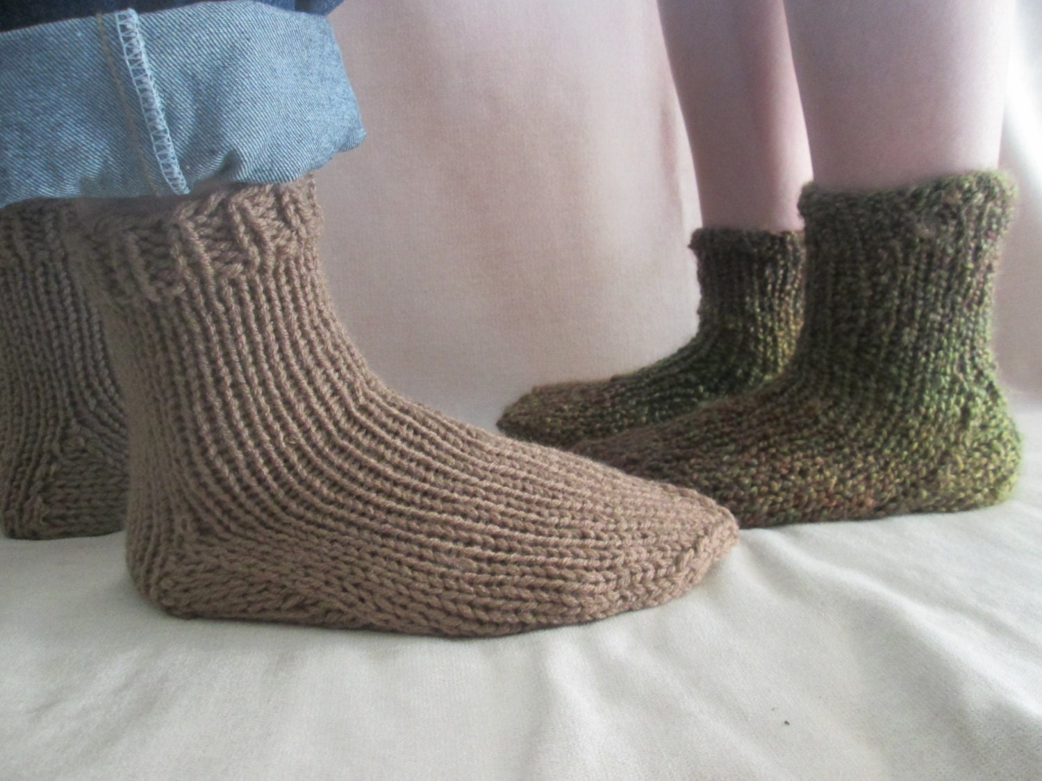 Slipper Socks Knitting Pattern Chunky Knit Socks Pattern