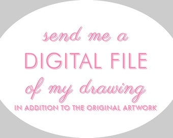Digital copy of your hand-drawn artwork