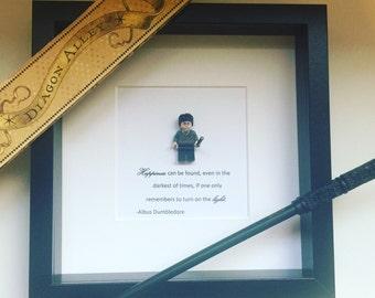 Harry Potter Lego Minifigure Frame.  Dumbledore Quote.  Hogwarts. Magic Wizarding World.