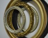Vintage Lot of Oval Frames / 5 Oval Frames / Old World Frames