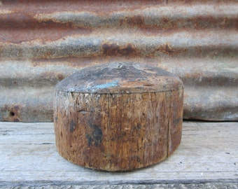 Antique Wood Hat Mold Mullinery Primitive Hat Block Rustic Shabby Old Fashioned Hat Makers Hatters Mold Late 1800s Era Primitive Rustic Old