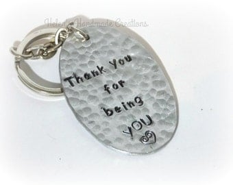 Personalized keyring Thank you for being you keyring personalized gift