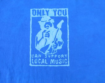 Support Local Music Bear Batik Dyed X-Large Shirt  #550