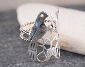 LARGE SILVER BIRD Ring, Love Birds, Couple Birds, Lovebird, Jewelry Designers