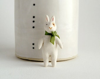 porcelain rabbit pin - rabbit jewelry