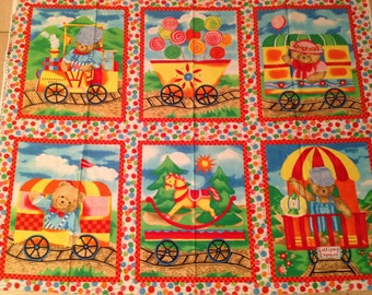 Train fabric etsy for Train themed fabric