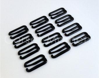 48 * Large Black Metal Bra Hook Suspender Clip Garter Belt Clasp Lingerie Supplies