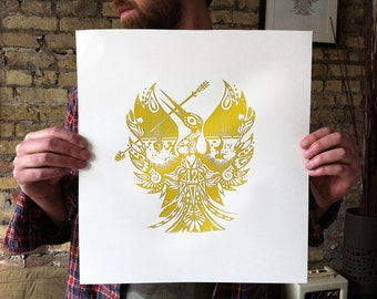 GIRL ON FIRE screen print poster