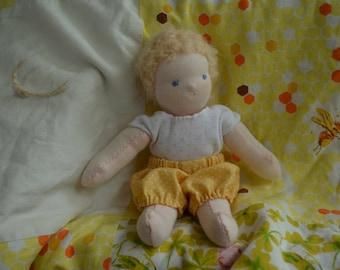 tiny baby doll, waldorf doll, handmade doll