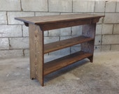 Console Table - Sofa Table - Entryway Table - Book Shelf -  TV Stand -  Pine, 4 Foot, 48""