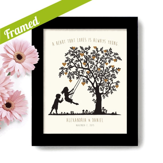 Cool Wedding Gifts For Young Couples : Wedding Gift Heart Tree Young at Heart Unique Engagement Gift ...