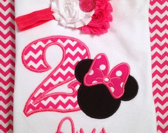 Minnie Mouse birthday shirt, girls birthday outfit, girls birthday shirt, Minnie Mouse shirt, girls outfit, girls shirt, toddler, baby