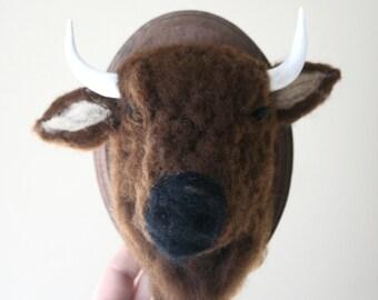 Faux Taxidermy Bison (Bison bison)