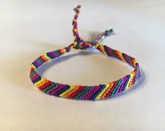 Rainbow Stripes Friendship Bracelet