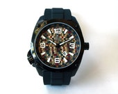 Recycled Skateboard Watch  - Wood Watch - Made in Canada - Gifts for Men