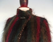 Fuzzy Days . M . Scotland Mohair Fluffy Hairy Jacket . Outerwear 70s Scottish Made Scotland