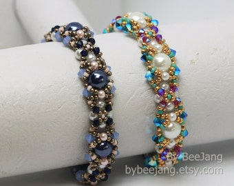 PDF Tutorial - Georgiana bracelet Beading Instruction Instant download Beadweaving Pattern