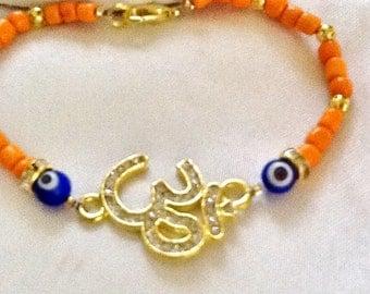 OHM bracelet , Namaste bracelet , yoga bracelet , bohemian bracelet , meditation bracelet , chakra bracelet