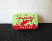 Vintage Shurkatch split shot sinker tin nice graphics