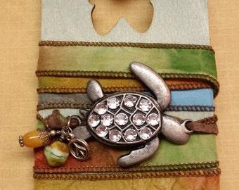 Turtle Ribbon Wrap Bracelet