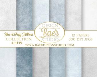 Digital Paper Pack:Graduation Background, Blue Distressed Digital Paper, Gray Distressed Digital Paper, Photoshop Backgrounds, #14149
