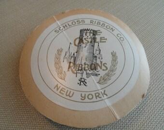 C031)  Vintage Schloss Ribbon Company Pink Ribbon