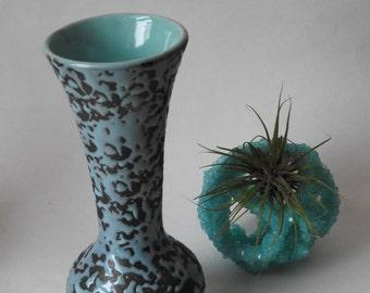 McCoy Turquoise Spackle Brocade Art Vase