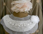White Pearl Beaded Applique