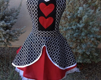 Queen of Hearts apron dress