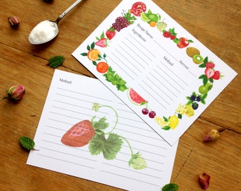 Illustrated Fruit Recipe Card Pack