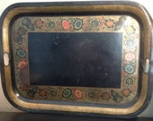 Antique tole painted tray toleware tray 19th Century