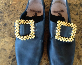 Men's Period Shoes with Hand-Made Gold-Plated Buckle