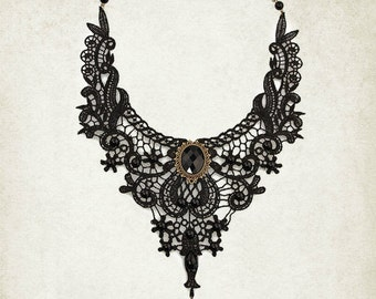 Victorian choker victorian necklace gothic choker lace choker black choker vampire necklace