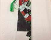 Upcycled Harley Quinn Comic Book Bookmark