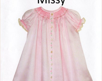 Smocked Dress Pattern / Smocked Daygown pattern / Missy Pattern / Daygown / by Childrens Corner  #3A