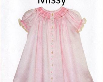 Missy Pattern / Smocked Dress Pattern / Smocked Daygown pattern /  by Children's Corner  #3A