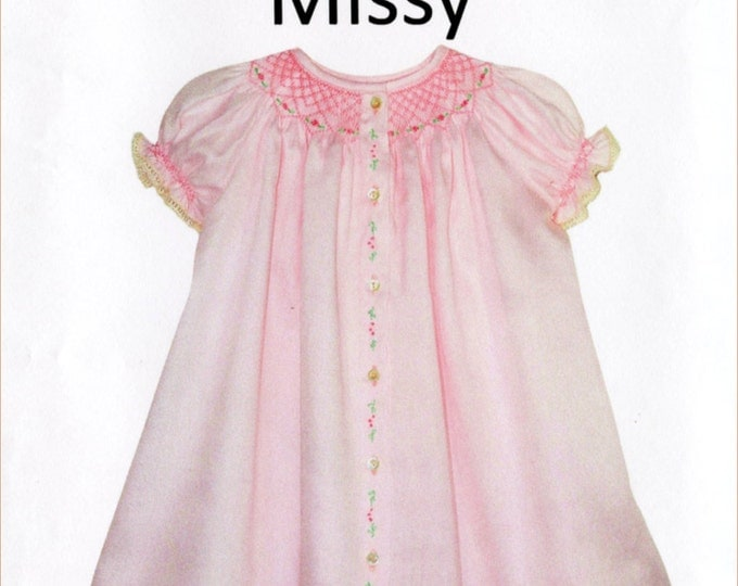 Childrens Corner Pattern / Smocked Dress Pattern / Smocked Daygown pattern / Missy Pattern / Daygown / by Childrens Corner  #3A