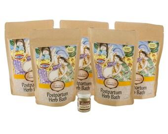 Postpartum Herb Bath Set with Free Umbilical Cord Care Powder