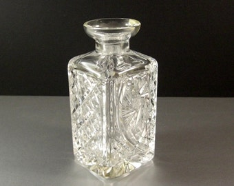 Hand Cut Crystal Tantalus Liquor Decanter with original tag