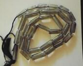 Q** Smoky Quartz (Natural) Beads - Smooth Hand-Cut Tube Beading - Genuine Gemstone - Precious Stones - Gems - Approx. 14 Strand