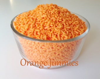 Orange Jimmies Sprinkles,Bulk 8 oz Orange Jimmies, Vibrant Orange Sprinkles, Orange Ice Cream Sprinkles, Orange Sugar Strands