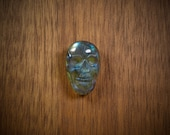 22 mm Chatoyant Labradorite skull cabochon - flat back for bezel or wire-wrap - Fabby Dabby Stones