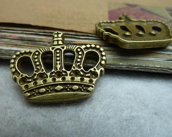20pcs 22*27mm antique bronze crown charms pendant C7247