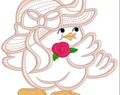 Applique Easter chick, embroidery easter, download embroidery, embroidery design, appliqué design, instant download, digitized download