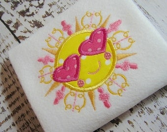 Sale 40% off Sunshine  Appliqué Machine embroidery design, Summer fun Sunshine, appliqué sunshine, embroidery sunshine, Summer, Spring, sun