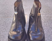 RESERVED RESERVED Treasury!!! French grunge platform chunky leather black Kickers Boots