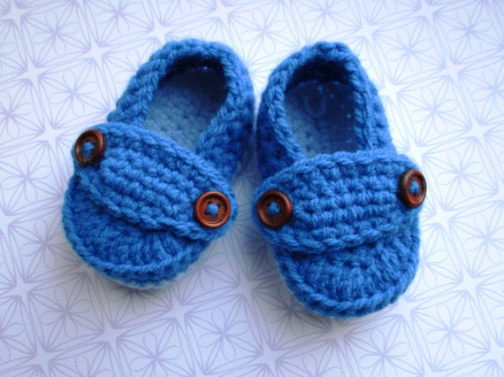 Baby boy loafers loafer booties knit baby shoe blue baby